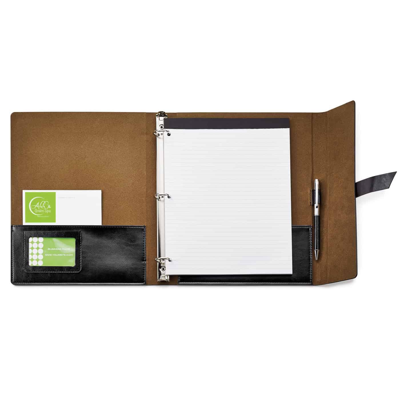 fabrizio refillable portfolio 3ring binder spector gifts