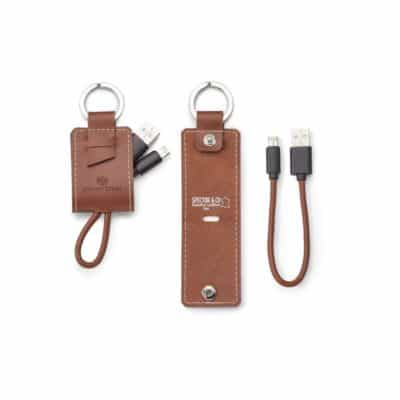Genuine Leather Key Ring/Charging Kit