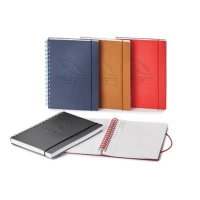 Giuseppe Di Natale Spiral Bound Leather Journal