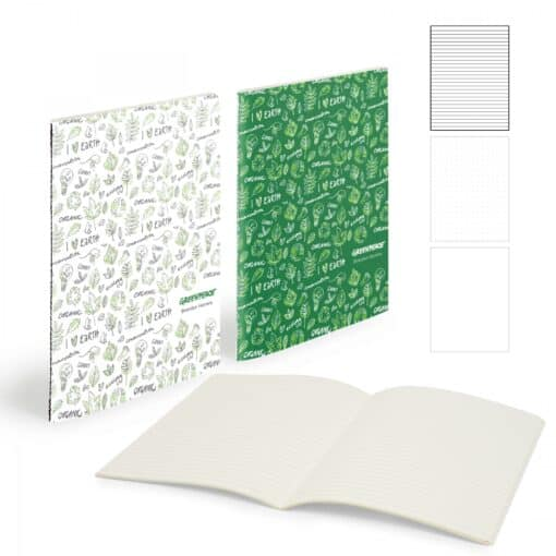 "Mighty Centre Sewn Notebook (7"" X 9"" With 56 Pages)"